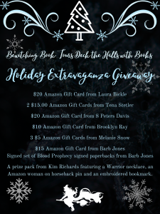 Deck the halls with books holiday extravaganza giveaway graphic