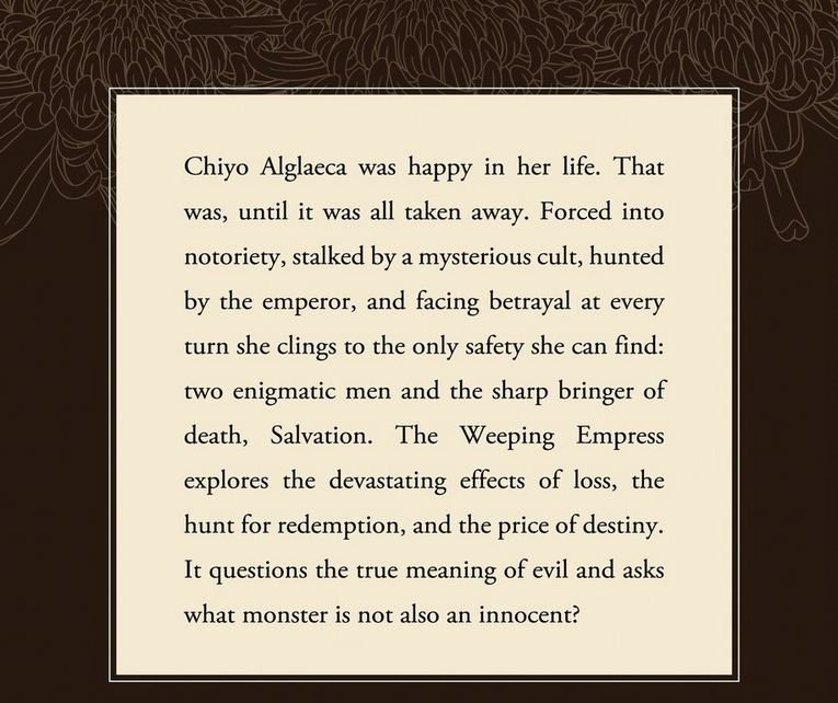 The aweeping Empress back of book