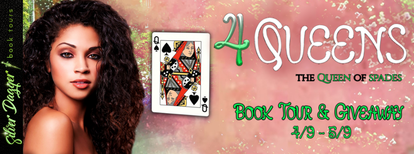 4 queens the queen of spades banner