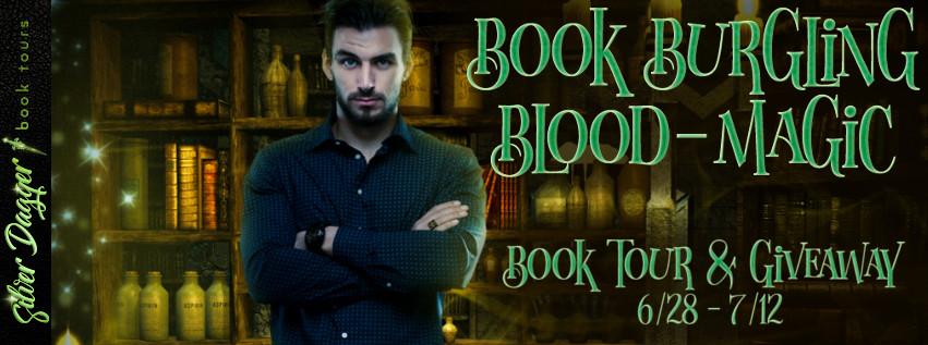 book burgling blood magic banner
