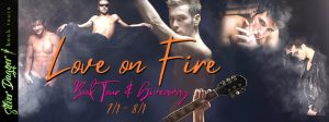 love on fire banner