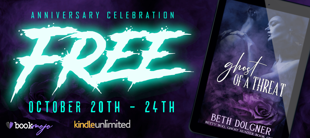 Banner - Ghost of a Threat by Beth Dolgner - Freebie Days - Oct 20-24